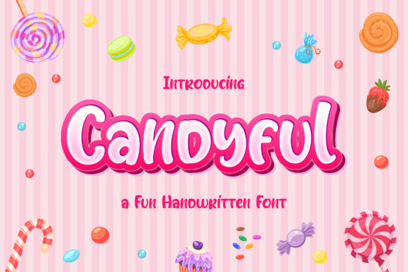 Print on Demand: Candyful Display Font By TypeFactory