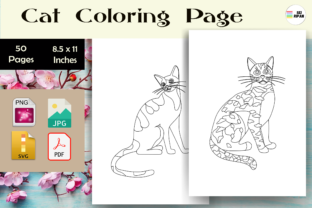 Print on Demand: Cat Coloring Page 2 - KDP Graphic Coloring Pages & Books Kids By Sei Ripan