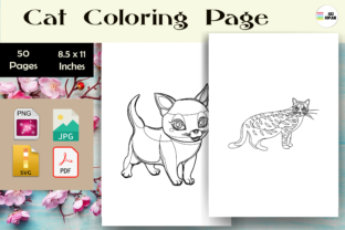 Print on Demand: Cat Coloring Page - KDP Graphic Coloring Pages & Books Kids By Sei Ripan