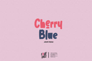 Print on Demand: Cherry Blue Display Font By Fourlines.design