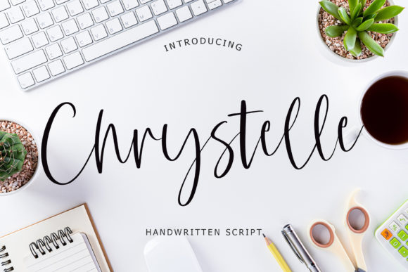 Print on Demand: Chrystelle Script & Handwritten Font By formatikastd