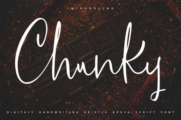Print on Demand: Chunky Script & Handwritten Font By Vunira
