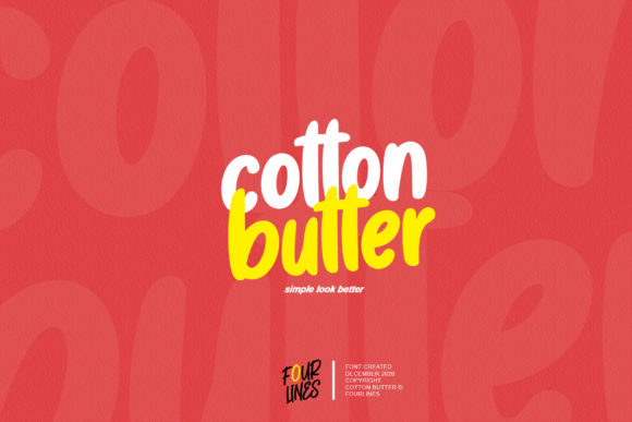 Print on Demand: Cotton Butter Display Font By Fourlines.design