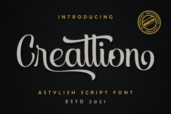 Print on Demand: Creattion Script & Handwritten Font By Skinny type