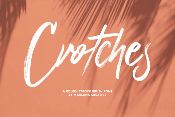 Print on Demand: Crotches Script & Handwritten Font By Maulana Creative