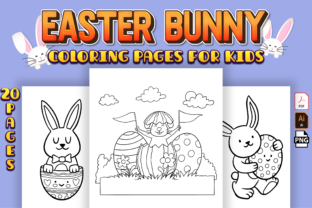 Print on Demand: Cute Easter Bunny Coloring Pages Vol-1 Graphic Coloring Pages & Books Kids By Kristy Coloring