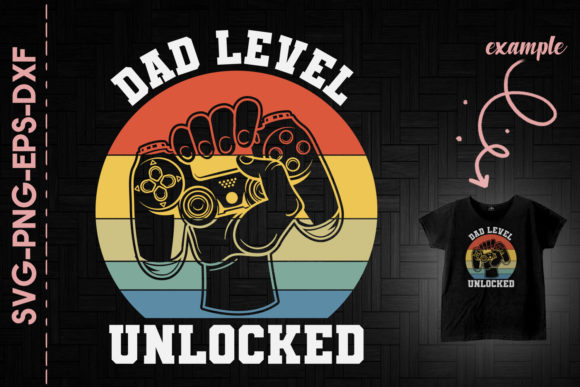 Print on Demand: Dad Level Unlocked Father of Baby Gift Graphic Print Templates By Utenbaw