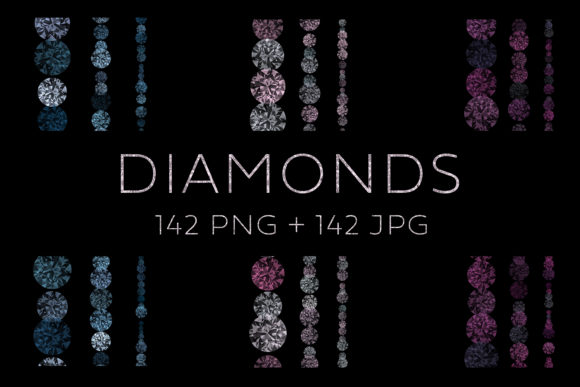 Diamond Lights, Garlands and Decorations Graphic Illustrations By Color Studio