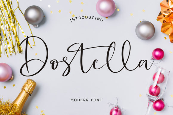 Print on Demand: Dostella Script & Handwritten Font By formatikastd