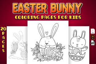 Print on Demand: Easter Bunny Coloring Pages for Kids Graphic Coloring Pages & Books Kids By Kristy Coloring 1