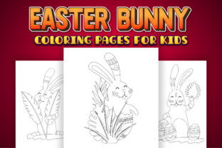 Print on Demand: Easter Bunny Coloring Pages for Kids Graphic Coloring Pages & Books Kids By Kristy Coloring 2