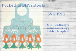 Easter Cadbury Mini Solid Eggs Template Graphic 3D SVG By PocketFulOfPrintouts