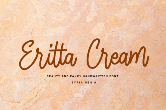 Print on Demand: Eritta Cream Script & Handwritten Font By Typia Nesia