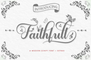 Print on Demand: Faithfull Script & Handwritten Font By Black Studio