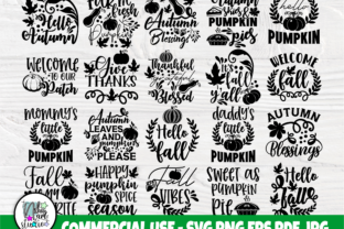 Print on Demand: Fall SVG Bundle, Autumn Svg, Pumpkin Svg Graphic Crafts By nibaartstudio