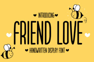 Print on Demand: Friend Love Display Font By OKEVECTOR