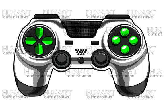 Gaming Controller 6 Graphic Illustrations By Fundesings