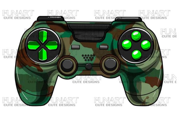 Gaming Controller 7 Graphic Illustrations By Fundesings