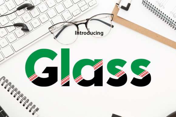 Print on Demand: Glass Display Font By da_only_aan