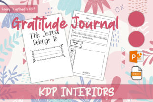 Print on Demand: Gratitude Journal for KDP Interior Graphic KDP Interiors By IsaraDesign