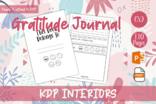 Print on Demand: Gratitude Journal for KDP Interiors Graphic KDP Interiors By IsaraDesign