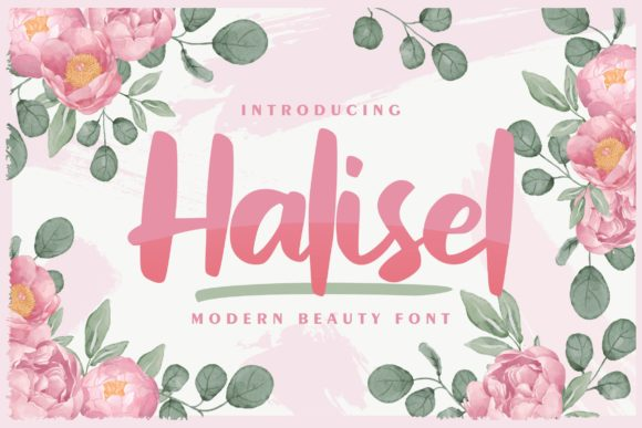 Print on Demand: Halisel Script & Handwritten Font By Vunira