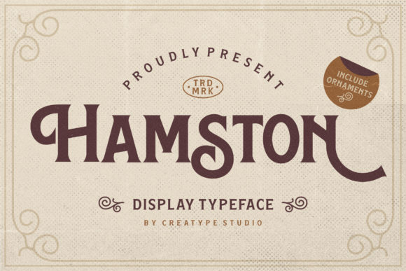Print on Demand: Hamston Serif Font By CreatypeStudio