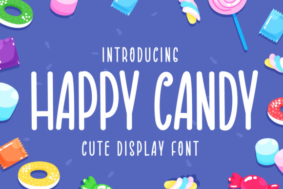 Print on Demand: Happy Candy Display Font By OKEVECTOR