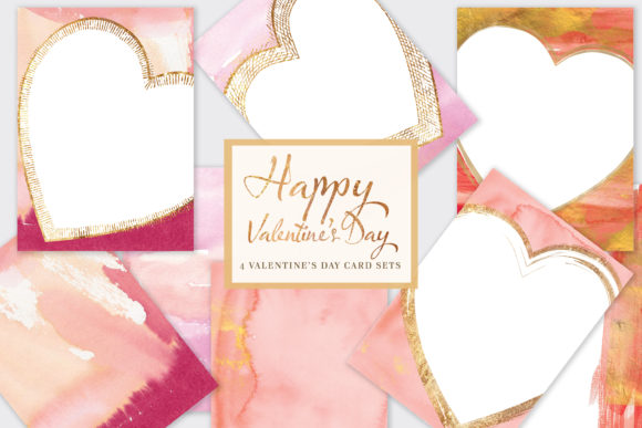 Happy Valentine's Day* Printable Cards Graphic Backgrounds By Patishop Art