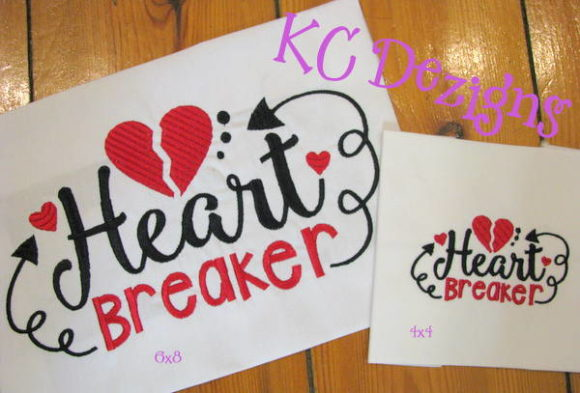 Heart Breaker Valentine Valentine's Day Embroidery Design By karen50