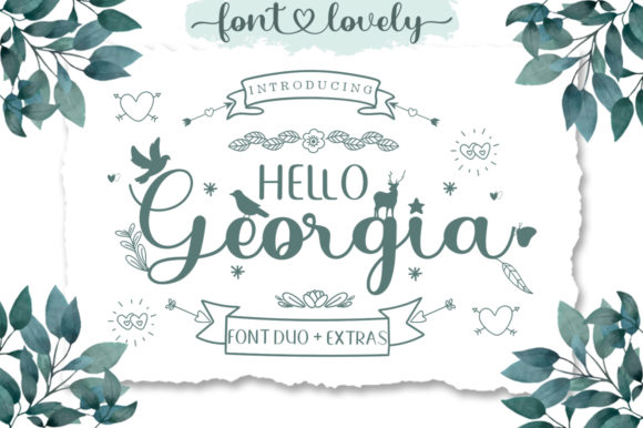 Print on Demand: Hello Georgia Script & Handwritten Font By bosstypestudio