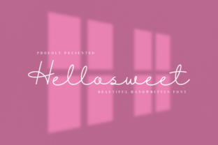 Print on Demand: Hellosweet Script & Handwritten Font By CBRTEXT Studio