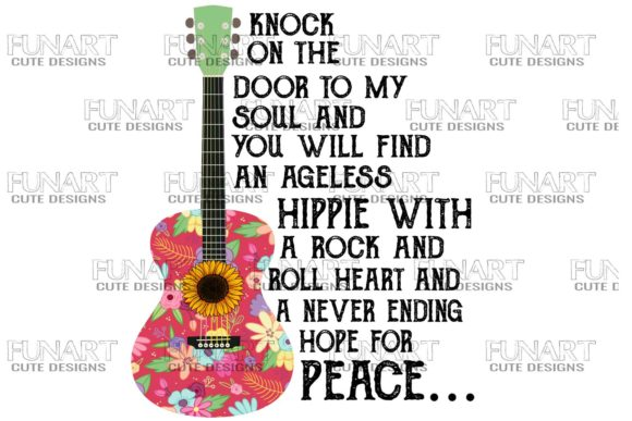 Hippie , Good Vibes , Peace , PNG Graphic Illustrations By Fundesings