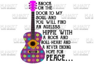 Hippie , Peace , Music , PNG Graphic Illustrations By Fundesings