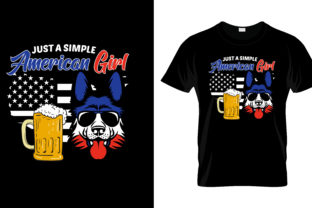 Print on Demand: Just a Simple American T Shirt Design Graphic Print Templates By merchbundle