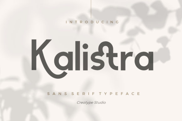 Print on Demand: Kalistra Serif Font By CreatypeStudio