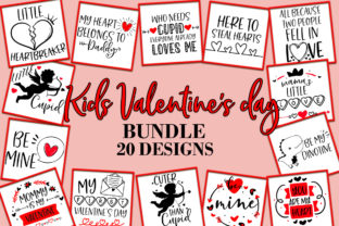 Print on Demand: Kids Valentine's Day Quotes Sayings SVG Graphic Crafts By freelingdesignhouse