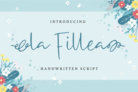 Print on Demand: La Fillea Script & Handwritten Font By Vunira