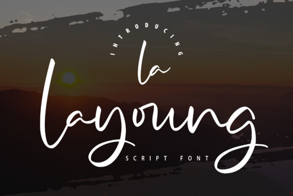 Print on Demand: La Layoung Script & Handwritten Font By Vunira