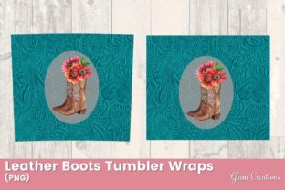 Leather Boots Tumble Wraps Graphic Print Templates By Glam Creations