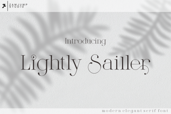 Print on Demand: Lightly Sailler Serif Font By zamjump