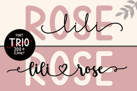 Print on Demand: Lilirose Script & Handwritten Font By Fillo Graphic