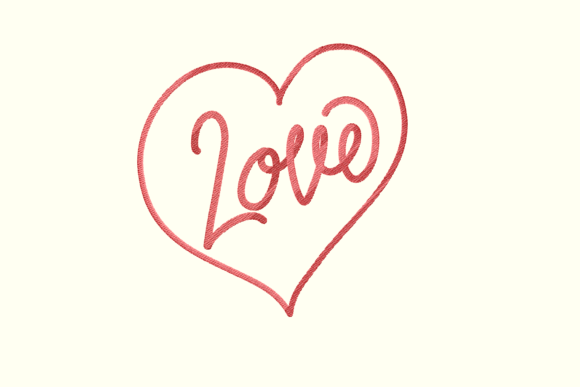 Print on Demand: Love Pin Wedding Quotes Embroidery Design By setiyadissi