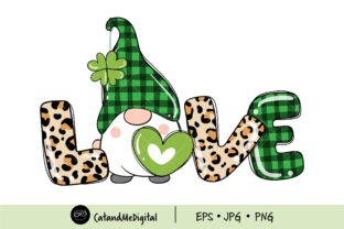 Love Gnome St Patricks Day. Graphic Illustrations By CatAndMe