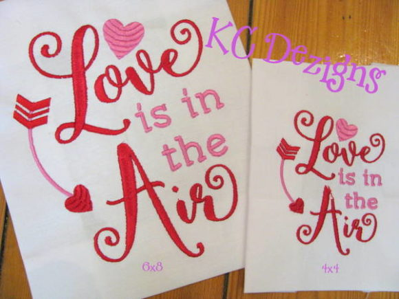 Love is in the Air Valentine Valentine's Day Embroidery Design By karen50
