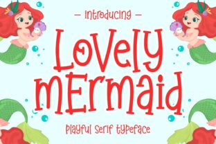 Print on Demand: Lovely Mermaid Display Font By Keithzo (7NTypes)