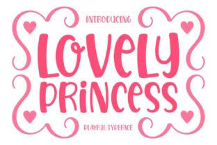 Print on Demand: Lovely Princess Display Font By Keithzo (7NTypes)