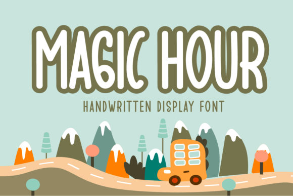 Print on Demand: Magic Hour Display Font By OKEVECTOR