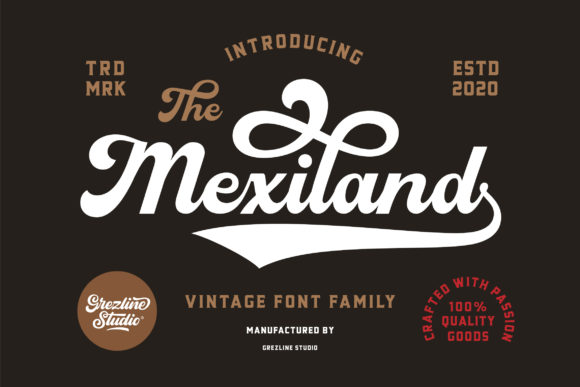 Print on Demand: Mexiland Script & Handwritten Font By Grezline Studio