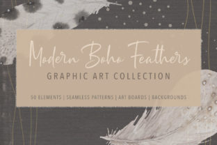 Print on Demand: Modern Boho Feather Graphics Collection Graphic Illustrations By Jennadesigns
